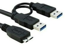 Faranet A/M To Y MicroUSB 3.0 External Hard Cable 20cm
